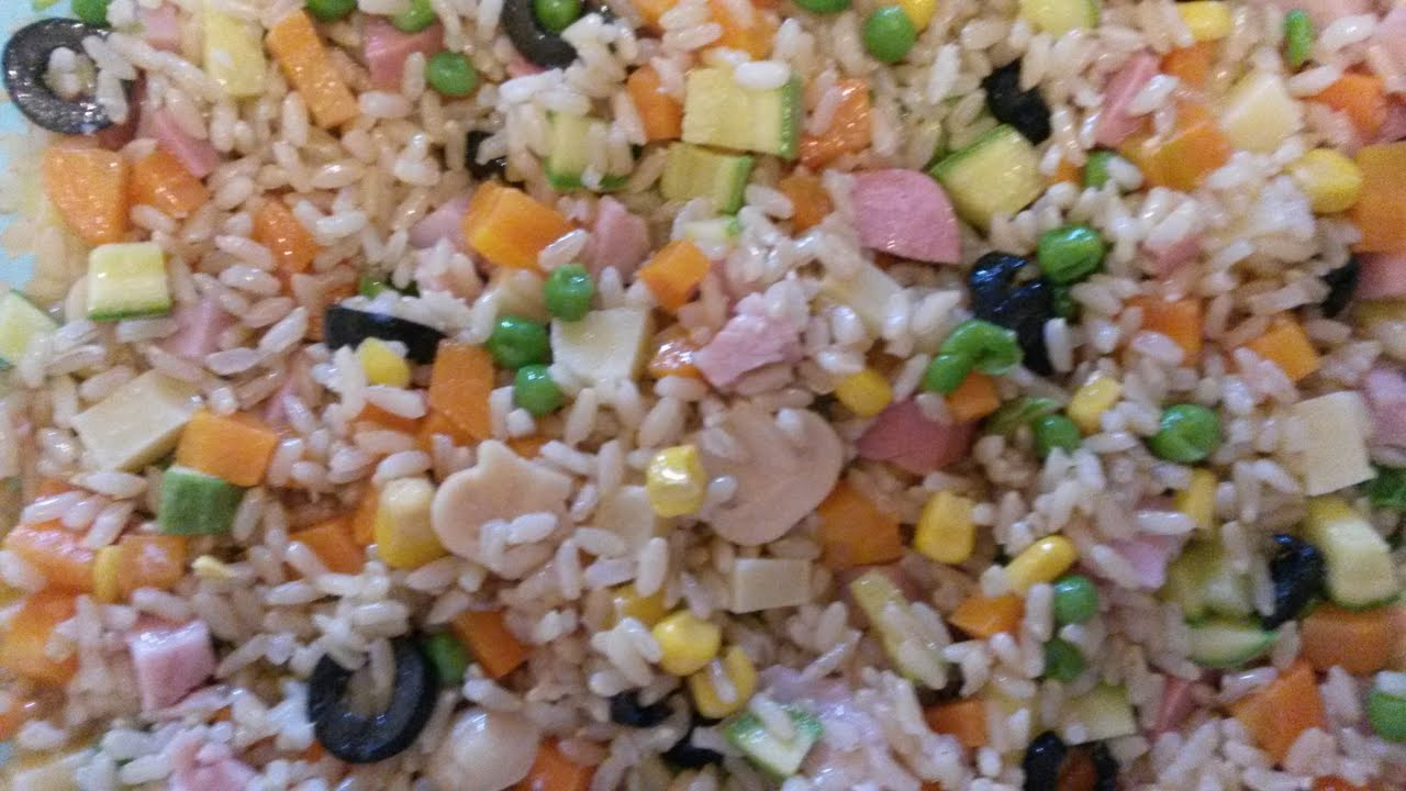 Receta 13 ensalada de arroz integral fantas a youtube for Cocinar 2 tazas de arroz