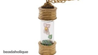 How to Make a Beaded Wire Flower in a Glass Bottle Necklace Mp3