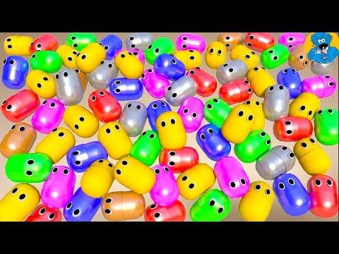 Живые Капсулы Мультик про 100 Киндер Сюрпризов,Unboxing 100 Surprises with Kinder Toys for Children