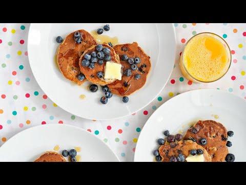 How To Make Naturally Sweet PB&J Pancakes | Healthy Breakfast Recipe From Chef Ryan Scott