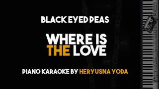 Where Is The Love - Black Eyed Peas (Acoustic Piano karaoke Version)