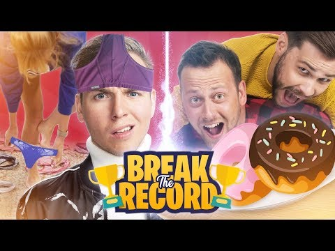ONDERBROEK SPRINGEN & DONUTS ETEN! - Break The Record #1