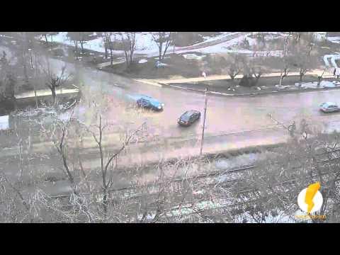 ДТП (авария) ул. Пушкина ул. Энгельса 26-02-2015 17-26
