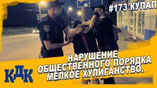 Нарушение общественного порядка ст.  173 КУпАП.