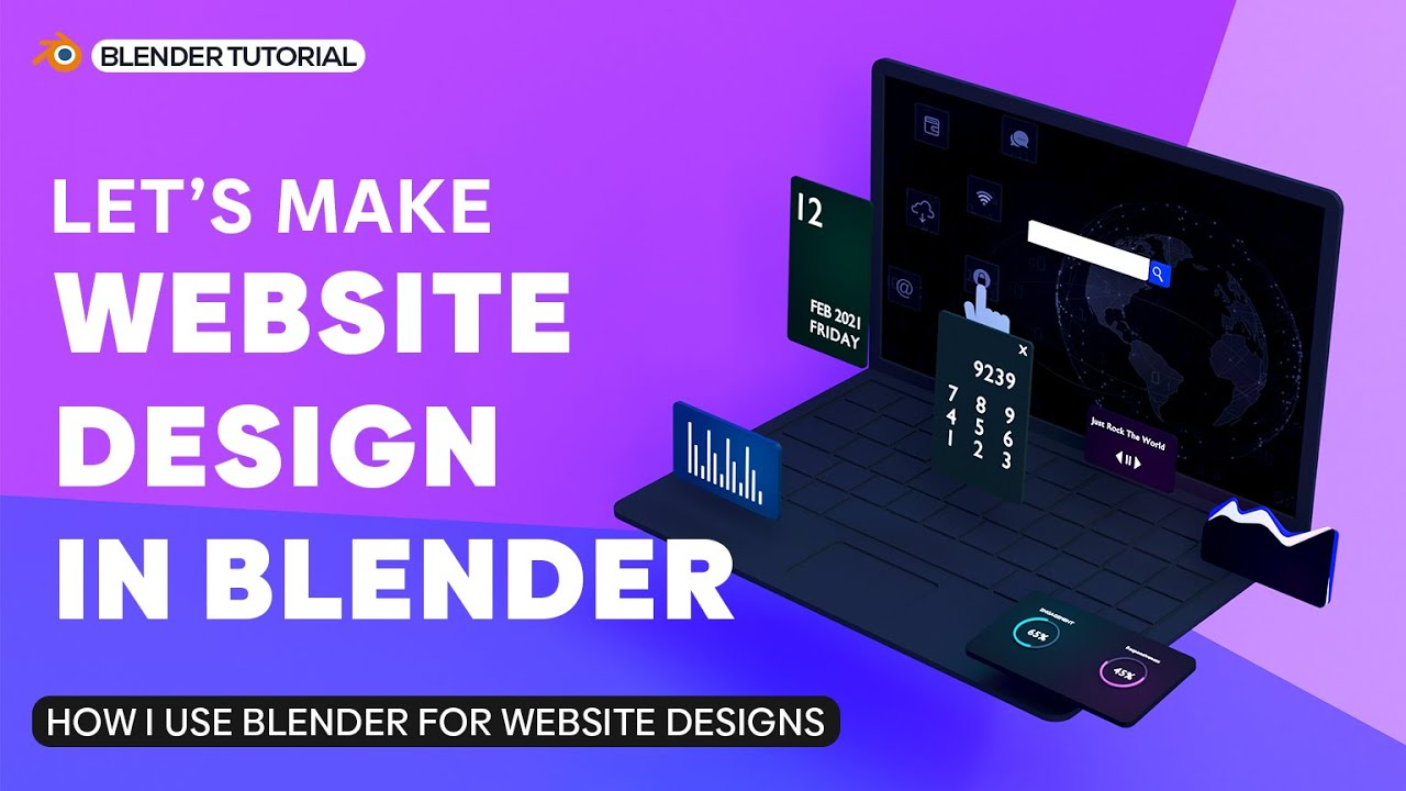 3D Website Design Tutorial – Blender 3D Beginner Tutorial