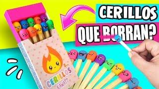 CERILLOS Kawaii QUE BORRAN!! ✔★ DIY Manualidades faciles ★ thumbnail