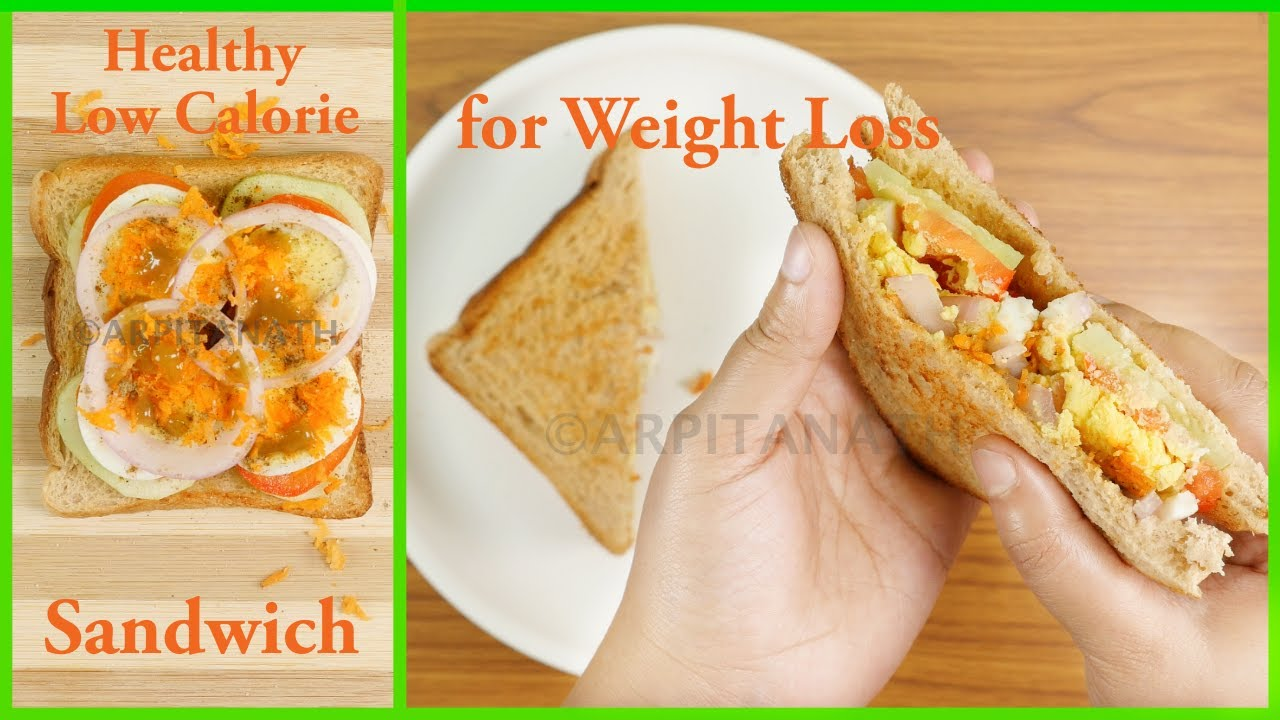 Healthy Weight Loss Sandwich Recipe || Low Calorie, High-Protein, Oil Free  || Lose Weight Faster