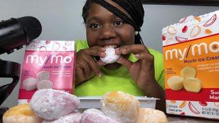 ASMR MOCHI ICE CREAM EATING