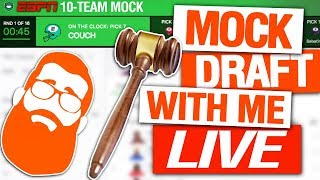 Auction Mock Draft Fantasy Football (LIVE)