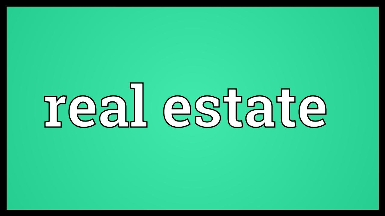 Real estate Meaning - YouTube