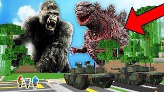 KING KONG Y GODZILLA INVADEN EL MUNDO DE MINECRAFT 💀😱!!