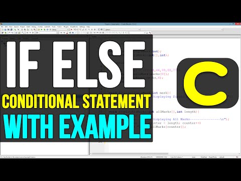 IF ELSE Conditional Statements in C Programming Video Tutorial