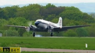 [A LEGEND] DC-3 onboard LOW PASS, LANDING and SHUTDOWN!