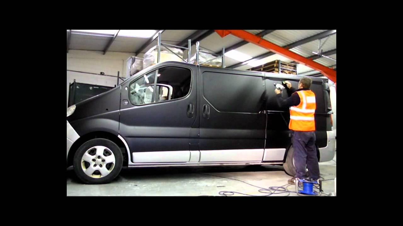 Black Matt Vinyl Vehicle Wrap Youtube