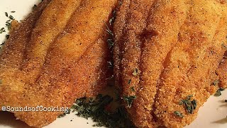 How to fry fish  ASMR satisfying crackle and sizzling sounds