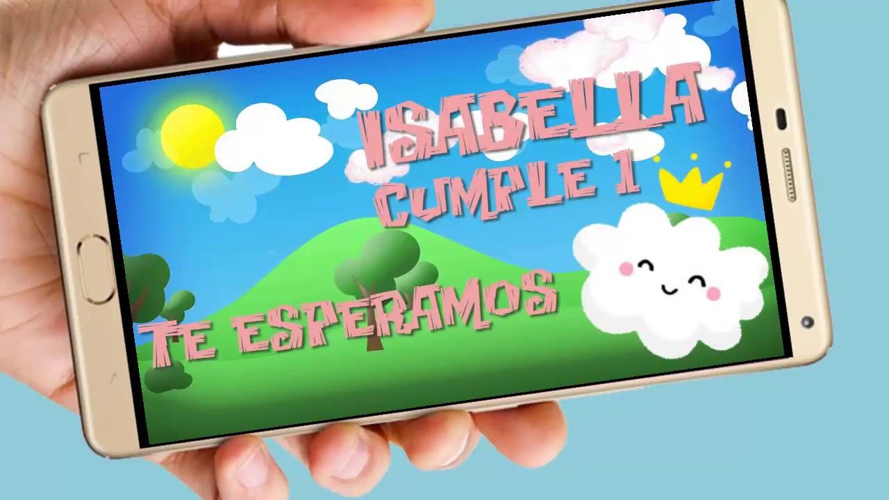 Nubecita Vídeo Tarjeta De Invitación Digital Para Cumpleaños Y Whapsapp Aquisevendeccs