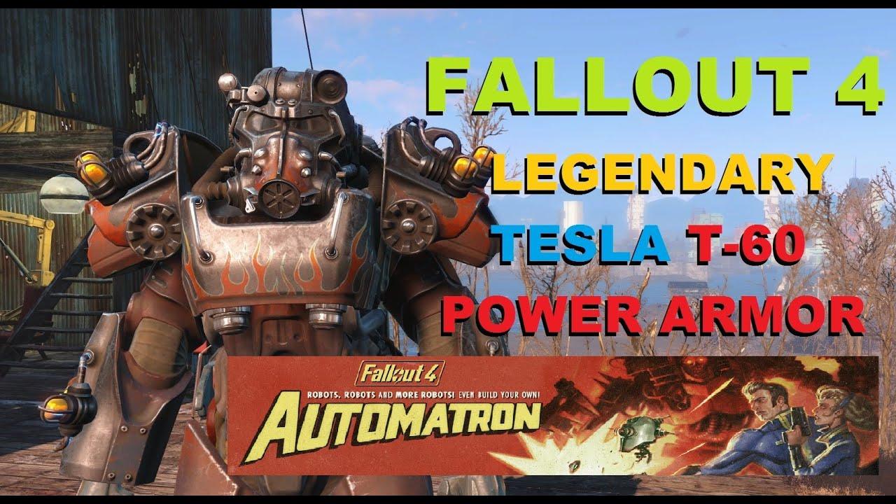 Legendary Tesla T-60 Power Armor Automatron Fallout 4 ...