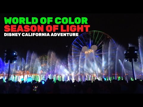 World of Color: Season of Light NEW FULL SHOW for Christmas 2016 at Disney California Adventure