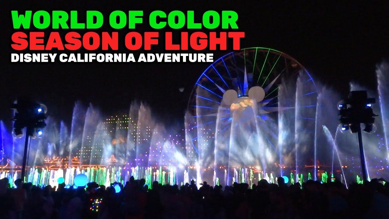 Disney California Adventure World Of Color Christmas 2020 World of Color: Season of Light NEW FULL SHOW for Christmas 2016