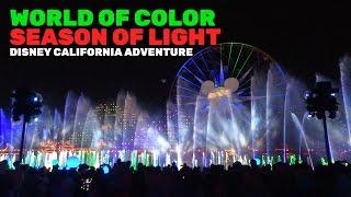 World of Color: Season of Light NEW FULL SHOW for Christmas 2016 at Disney California Adventure