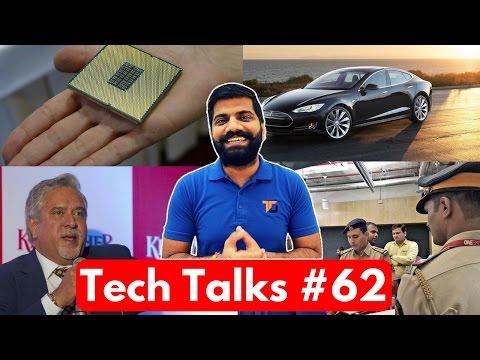 Tech Talks #62 - Vijay Mallya Hacked, Facebook Police, Samsung Tesla, India Govt  Intel Deal