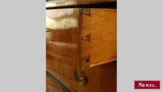 Antique Austrian Biedermeier Cherrywood Chest With 3 Drawers