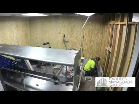 12 Hour Commercial kitchen remodel in 2 minutes