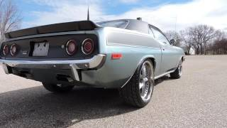 1974 Plymouth Silver blue Cuda for sale at www coyoteclassics com