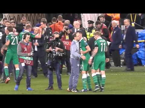 Ireland V Bosnia- Post Match Celebrations-Euro 2016 Play Off, Aviva Stadium, Dublin