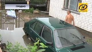 Мощный ливень обрушился на Беларусь