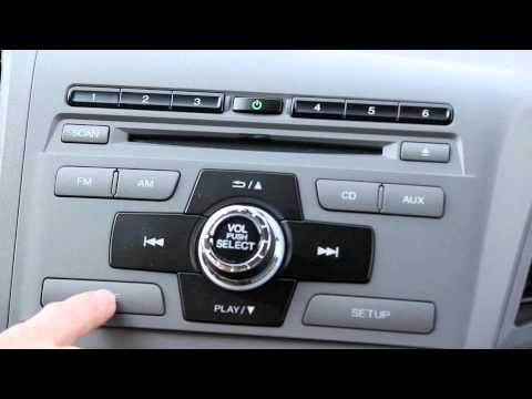 How To Set Up Bluetooth On The 2012 Honda Civic Youtube