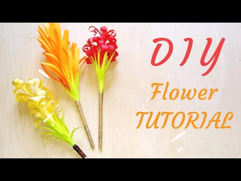 DIY Paper Hyacinth Flowers - How To Create 3 Types Of Hyacinth Flowers Curly Flowers