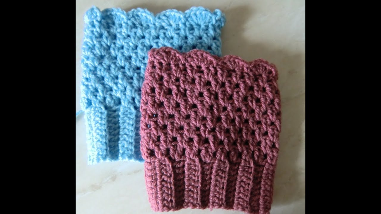 Crochet Pattern Easy Boot Cuffs Youtube