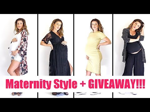 MATERNITY STYLE MUST HAVES  Maternity Wear Giveaway!  Shenae Grimes Beech