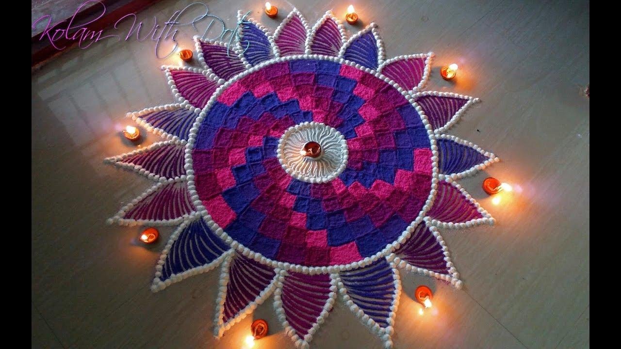 Beautiful Rangoli With Multiple Colours For Competitions and ... for Beautiful Rangolis For Competition  56bof