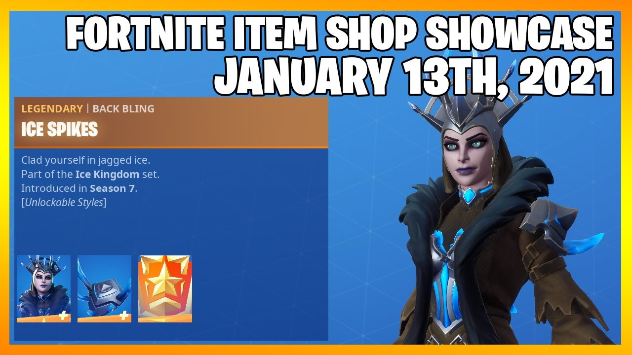 Fortnite Item Shop *RARE* THE ICE QUEEN IS BACK! [January 13th, 2021] (Fortnite Battle Royale)