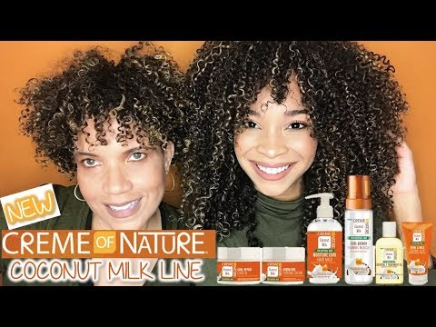 NEW! Creme of Nature Coconut Milk Line | FULL Review + Wash N' Go