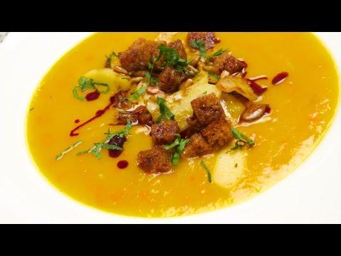 Kürbissuppe selber kochen, Chefkoch Anleitung für feine Kürbiscremesuppe