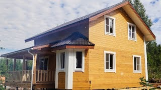 видео Проекты домов из бруса 8 на 8