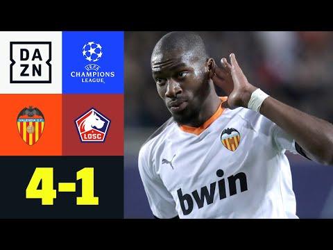 Kondogbia-Hammer macht Comeback perfekt: Valencia - Lille 4:1 | UEFA Champions League | DAZN