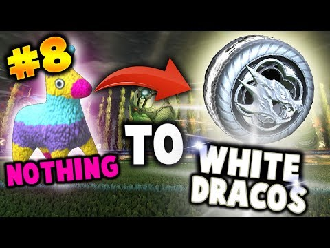TRADING FROM NOTHING TO SOMETHING! (Trading To White Dracos / Hellfire in Rocket League) - Part 8