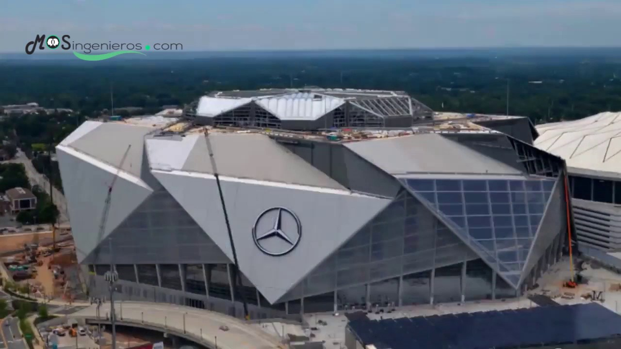 Timelapse mercedes benz stadium youtube for Estadio mercedes benz