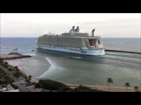 World's Largest Cruise Ship Sucks the Water off Fort Lauderdale Beach