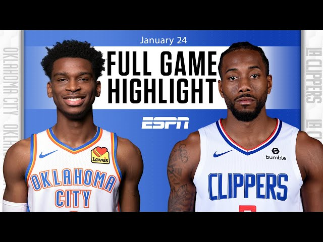 Oklahoma City Thunder vs. Los Angeles Clippers [FULL GAME HIGHLIGHTS] | NBA on ESPN