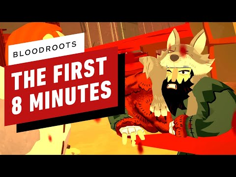 The First 8 Minutes of Bloodroots - S Rank Gameplay