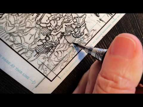 inking comics with Hope