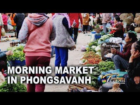 SUAB HMONG TRAVEL: Morning Market in Phongsavanh, Laos | Khw sawv ntxov nyob Phoos Xab Vas
