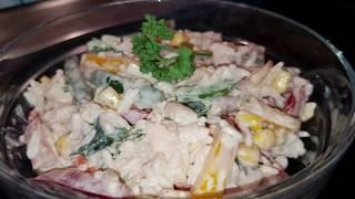 рисовый салат!!! Салат из риса с овощами!!!