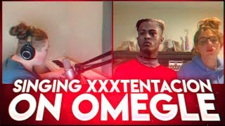 SINGING XXXTENTACION ON OMEGLE - (OMEGLE SINGING REACTIONS) #34 Resimi