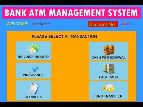 Banking ATM Management System Project in VB.NET Part 1
